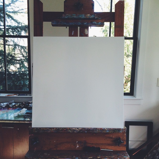It all starts with a blank canvas. What to paint next? #melissaandersonstudio #blankcanvas