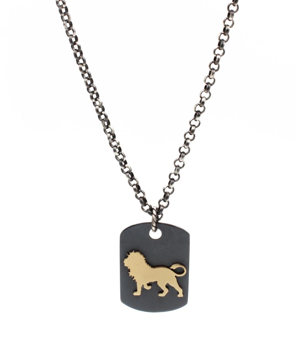 Lion Dog Tag Necklace.jpg