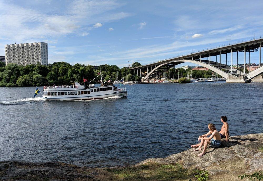 Stockholm sunbathers