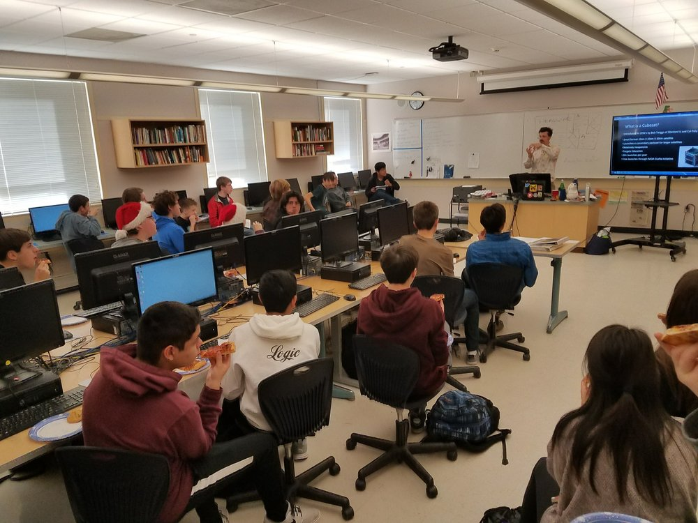 TL Students filled the room for Industry Insights Speaker: Evan J. Neumann, Orbiting Eden