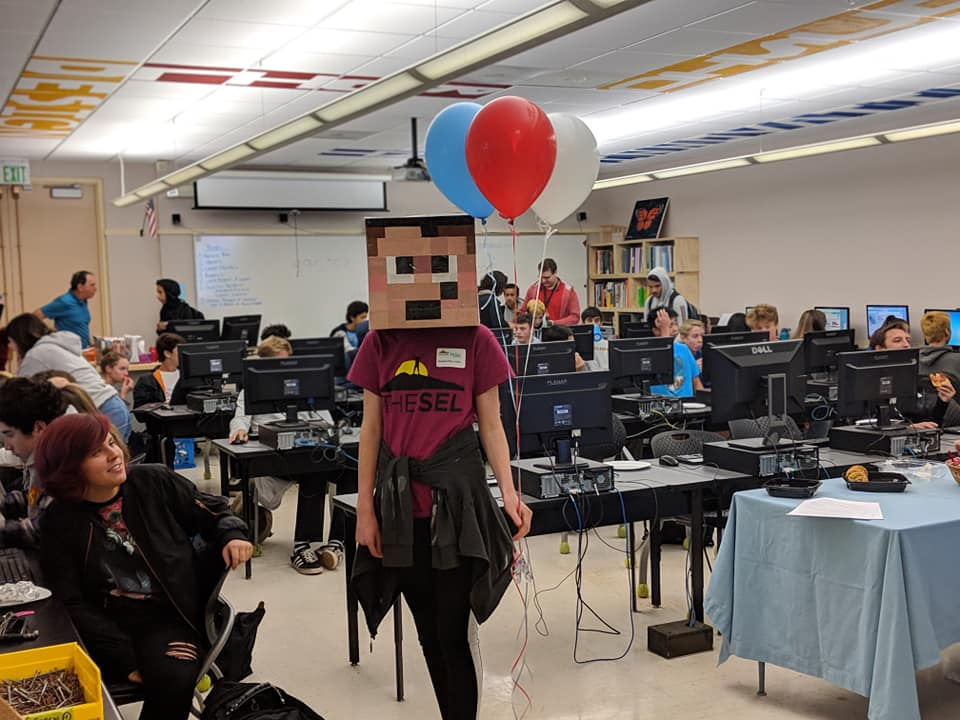 Minecraft Mascot for TL Innovation Lab's 4th Annual Lunch Hour of Code