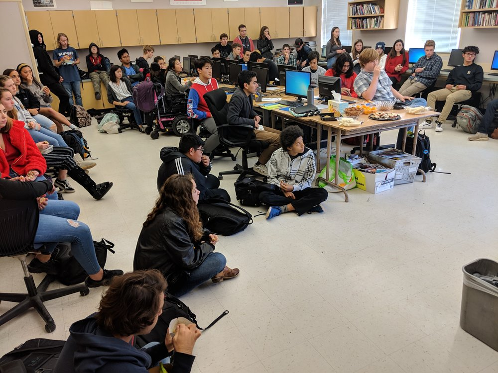 Students Spill on to the Floor to Learn More About TL's New Video Game Development Pathway