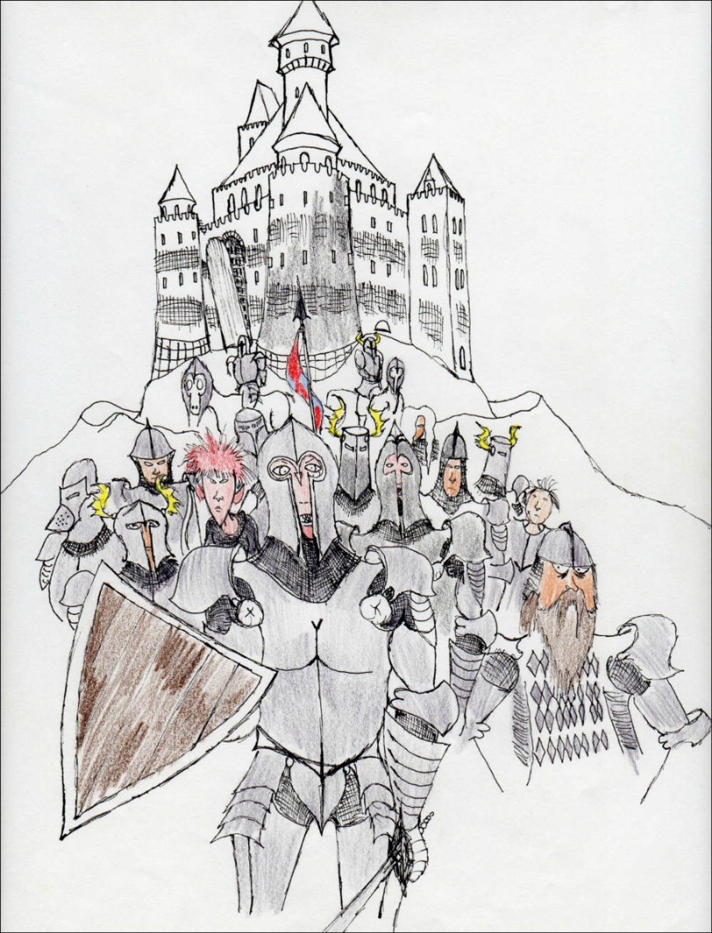 Castle Warriors              Spencer Rideout Pen and colored pencils photo print $35