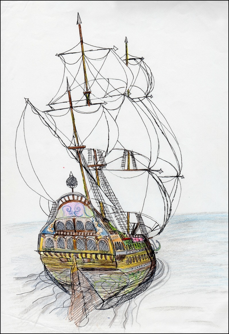 Ship Two               Spencer Rideout Pen and colored pencils photo print $35