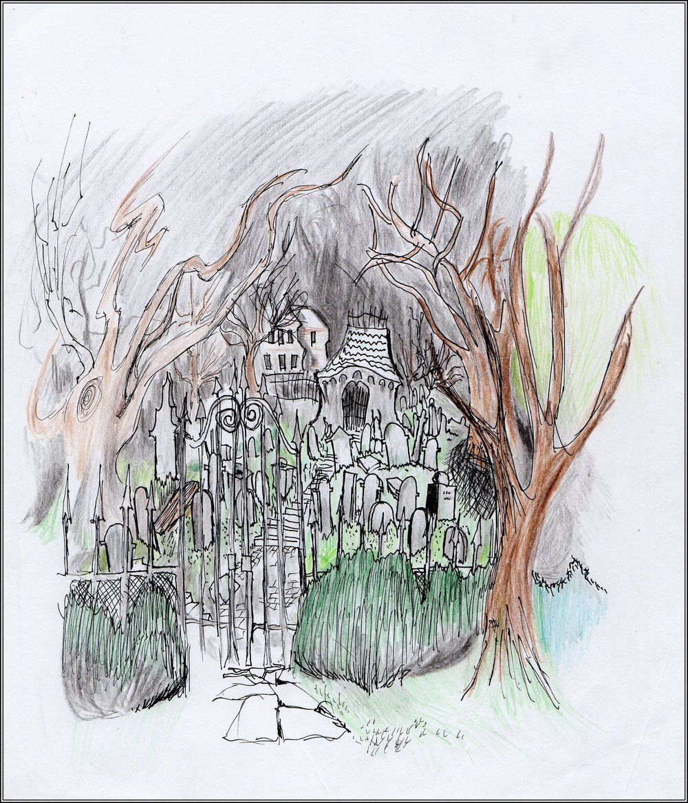 Haunted House                   Spencer Rideout Pen and colored pencils photo print $25