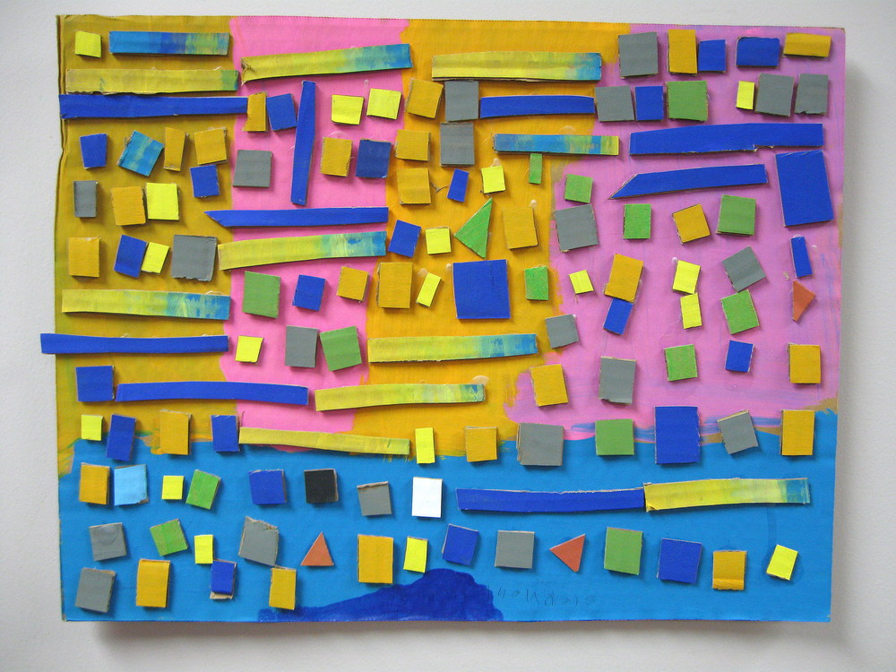 Mosaic #1  $35.00 Steve Thomas Painted cardboard cutouts