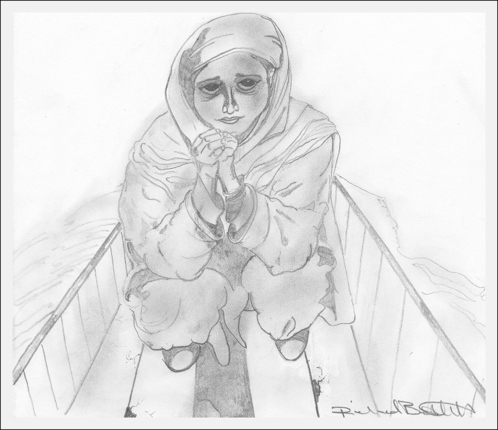 New Delhi Girl Ricky Bartlett 2001 Pencil on Parchment 8 x 10