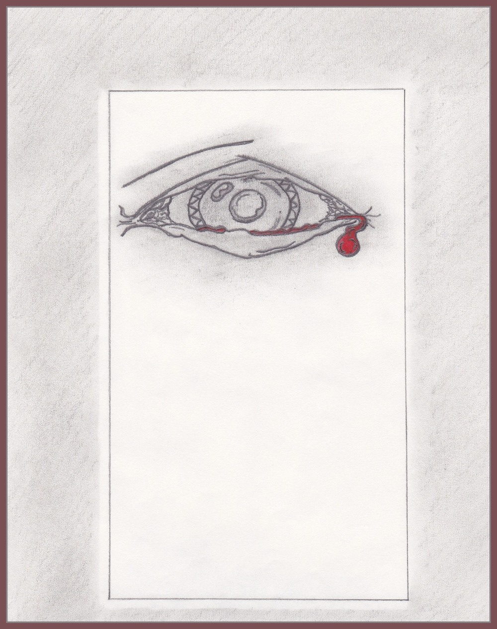 Blood Union Ricky Bartlett 2000 Pencil on Parchment 8 x 10