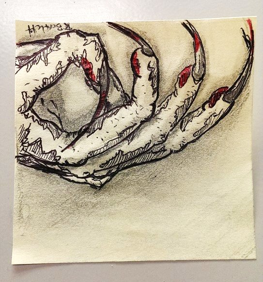 Post-It Claw Ricky Bartlett 2015 Pen and Pencil on Post-It note
