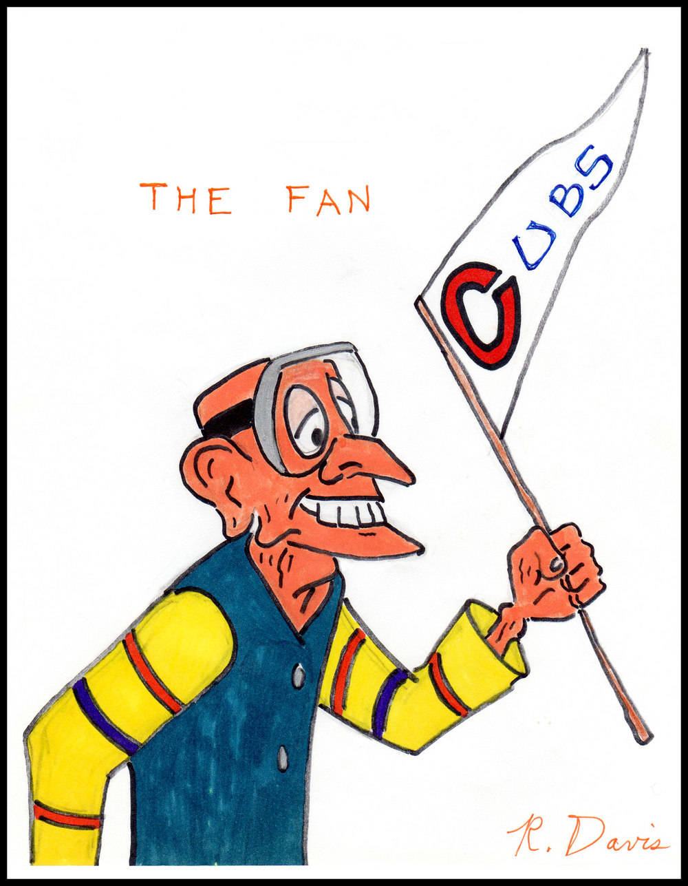 The Fan Ron Davis Markers on 8-1/2 x 11 paper - print $20