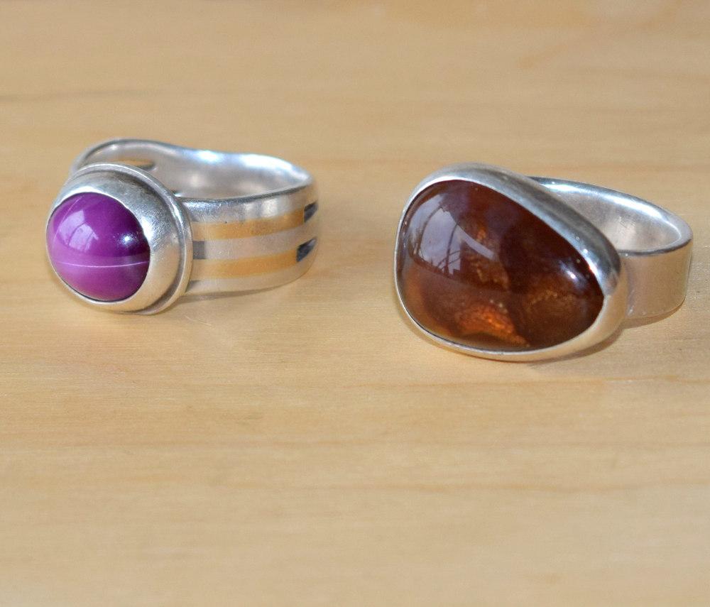 Rings Randy Sander Silver and gemstone