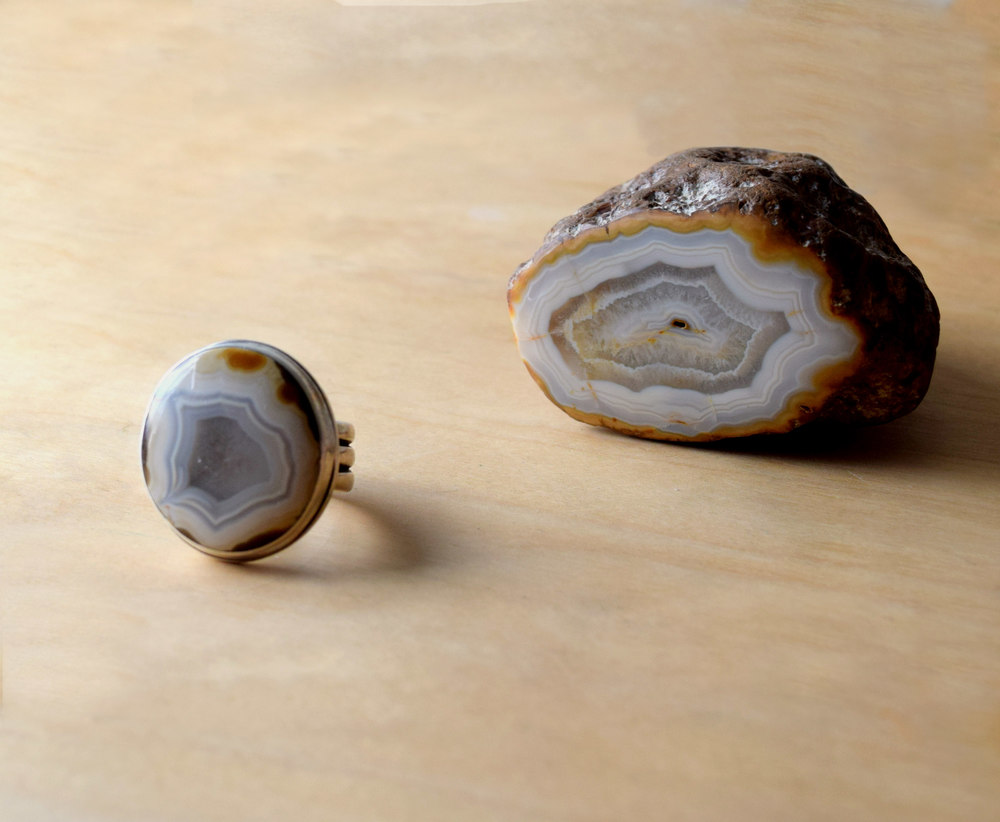 Agate Ring Randy Sander Agate, silver