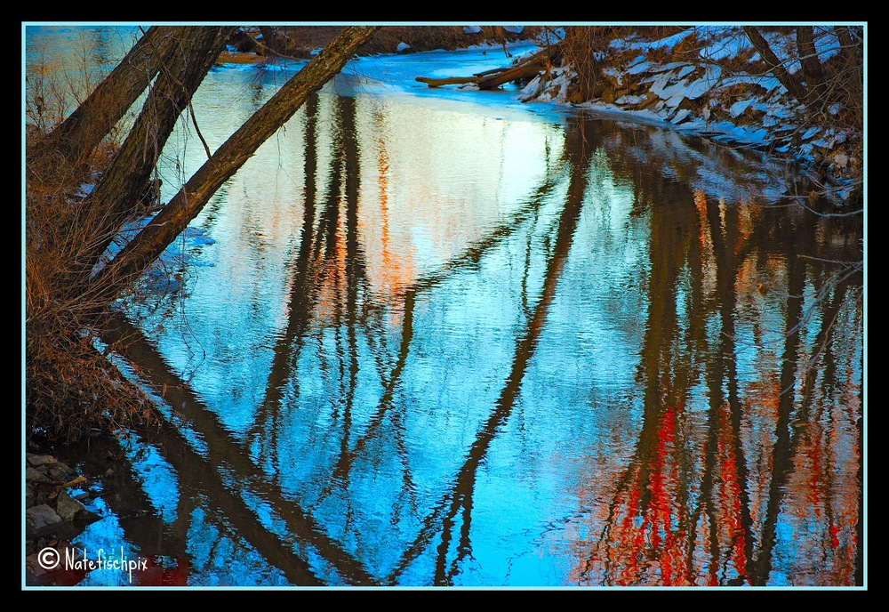 Vivid Winter Water Nathan Fischer 2015 Photograph 11x14 or custom $100