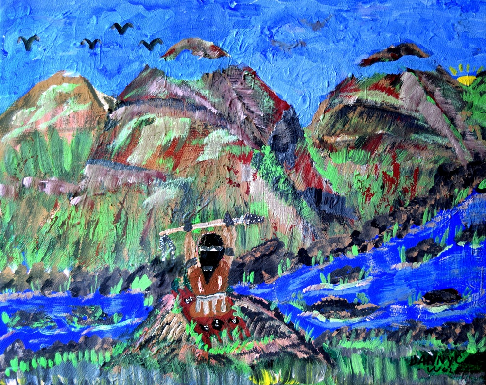 Praying Danny Cook Acrylic on Canvas 1x17 size photo print  $35