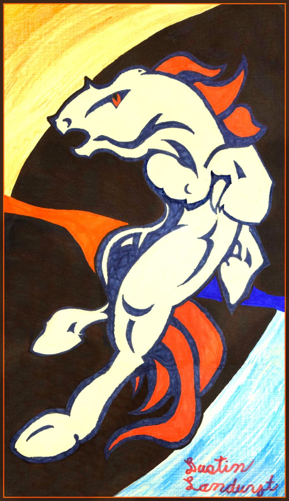 Dustin Landuyt   Horse 2016   Acrylic on canvas, 9x14 405 or print $15