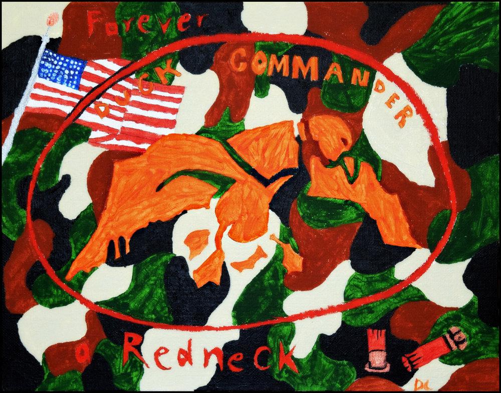 Dustin Landuyt Redneck Commander Acrylic on canvas, $30