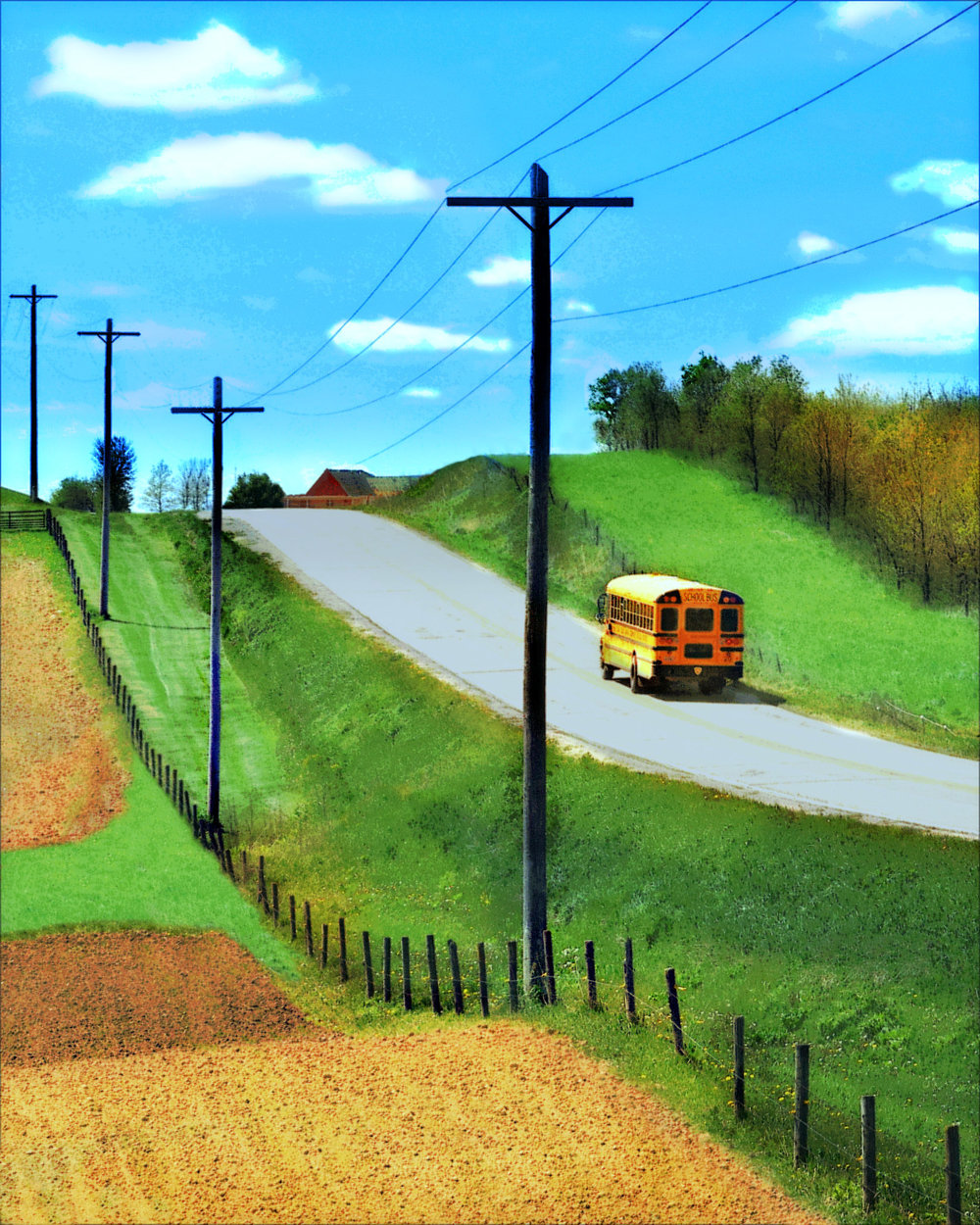 School bus on the IWV (west of Iowa City) Maggie Burns 2016 Edited Photo $65