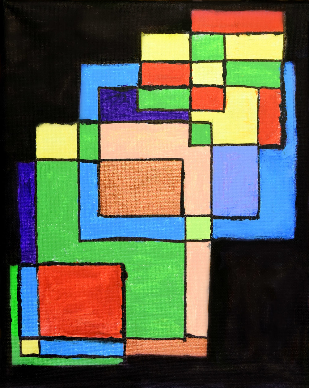 The Squares of Art Susan Nevers Acrylic on Canvas 11x17 Print $35.00