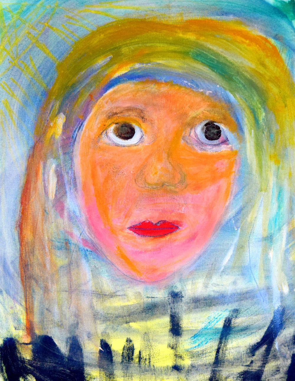 The Homeless Girl Morgan West Acrylic on canvas  11 x 14 Print $45