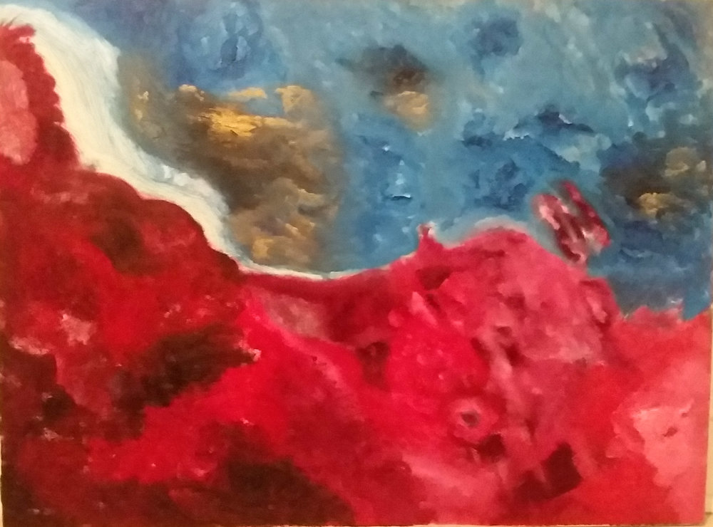 The Red Cliff Oil on Canvas 30x40 (07/2018)  $1200
