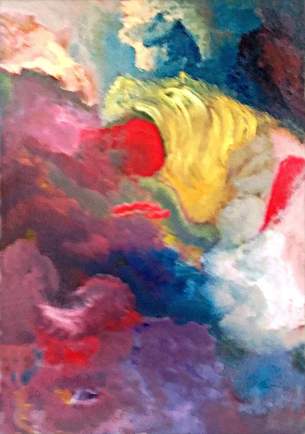 Angelo Oil on Canvas 24x36 (05/2018) $800