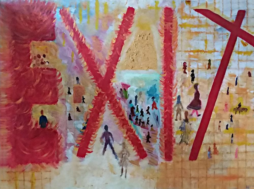 Exodus/We Found God Oil on Canvas 30x40 (05/2018) $1000