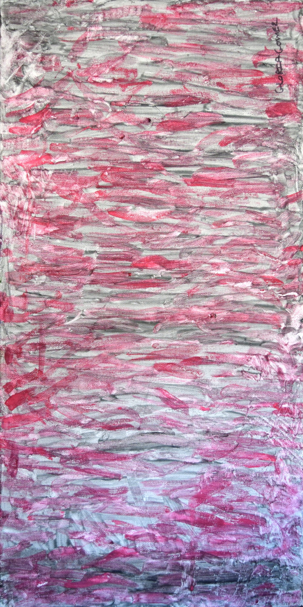 Abstract Nine 12 x 30, Acrylic on Canvas $100