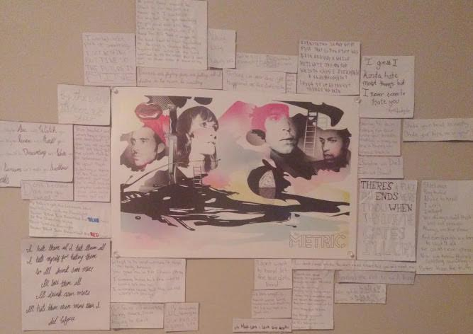 A view of Tallulah's lyric wall. Photo Cred: Tallulah