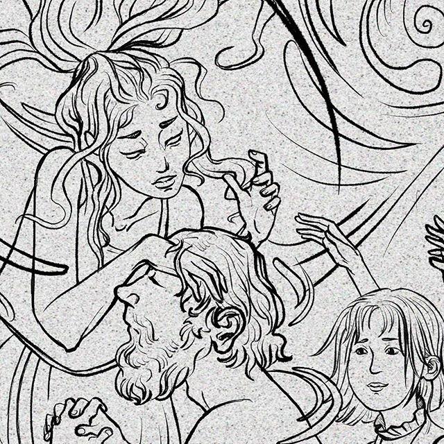 #Inktober4/4 Introducing the Good Witch of the North!  #witch #goodwitch #hero #magic #water #healing #art #artist #artistofinstagram #illustration #illustratoroninstagram #halloween #ink #digitalart