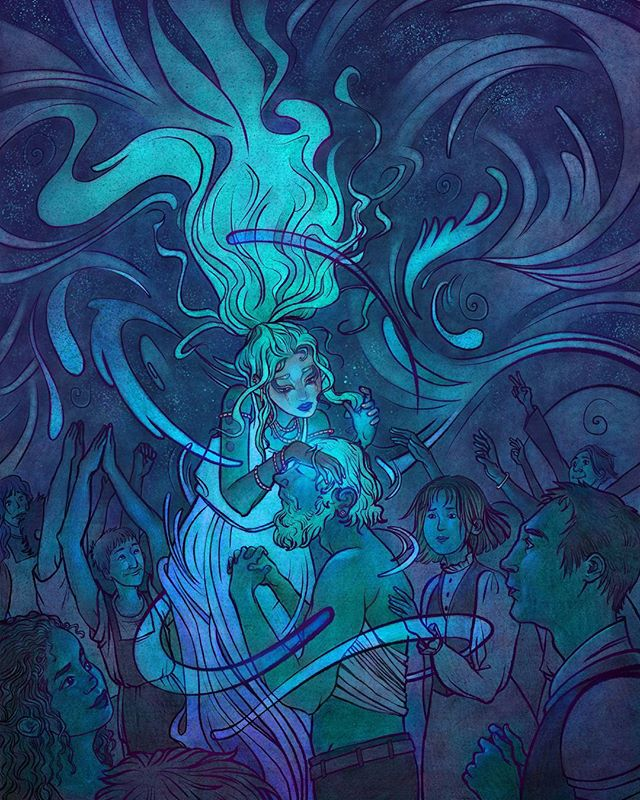 The Good Witch of the North Water #Inktober 4/4  The last powerful witch considered to be a friend of people, the Witch of the North does everything she can to help those in need. She was very close to the Good Witch of the South and never fully recovered from her passing.  As a witch of water, the Witch of the North has the great power to heal the sick and wounded. People look up to her for her wisdom and guidance on all spiritual matters. She has a special interest in watching the other witches. The Wicked Witch of the East is keen to use her water for catastrophic storms, and the Wicked Witch of the West needs to have her fires kept in check.  It's important work. But despite her drive to help others, sometimes she just wants time to herself. friends.  #inktober2017 #digitalart #artist #artistofinstagram #illustration #illustrator #illustratoroninstagram #witch #goodwitch #halloween #water #spirit #ice #cold #north #wizardofoz #glindathegoodwitch