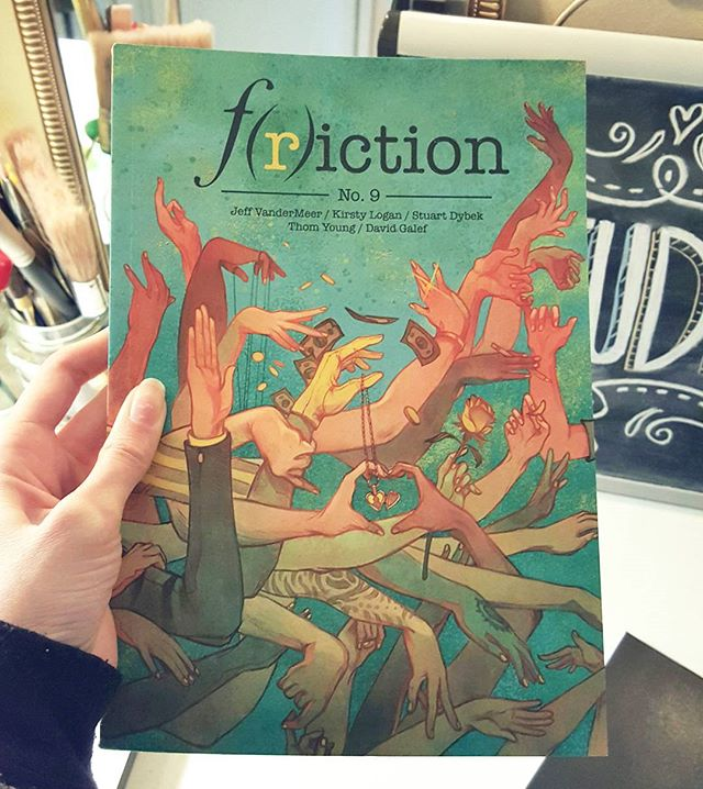 Look what came in the mail today! This cover was a ton of fun. I'm stoked to finally hold the end result in my hands!! #friction9 #love  #artistsoninstagram #illustration #art  #artist #freelancelife #studio #fun #accomplished  @friction_series @tetheredbyletters