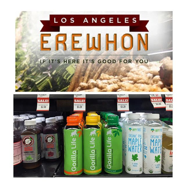 It's official! The Gorilla is in the building!! You can now purchase Gorilla Life at Erewhon Natural Foods Market Los Angeles.  Share a photo of all the ways you #drinklife for the chance to win a free Gorilla Life T-shirt 👌🏽