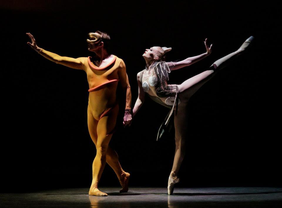 George Balanchine's Orpheus, photo by Paul Kolnik. Janie Taylor and Sebastien Marcovici