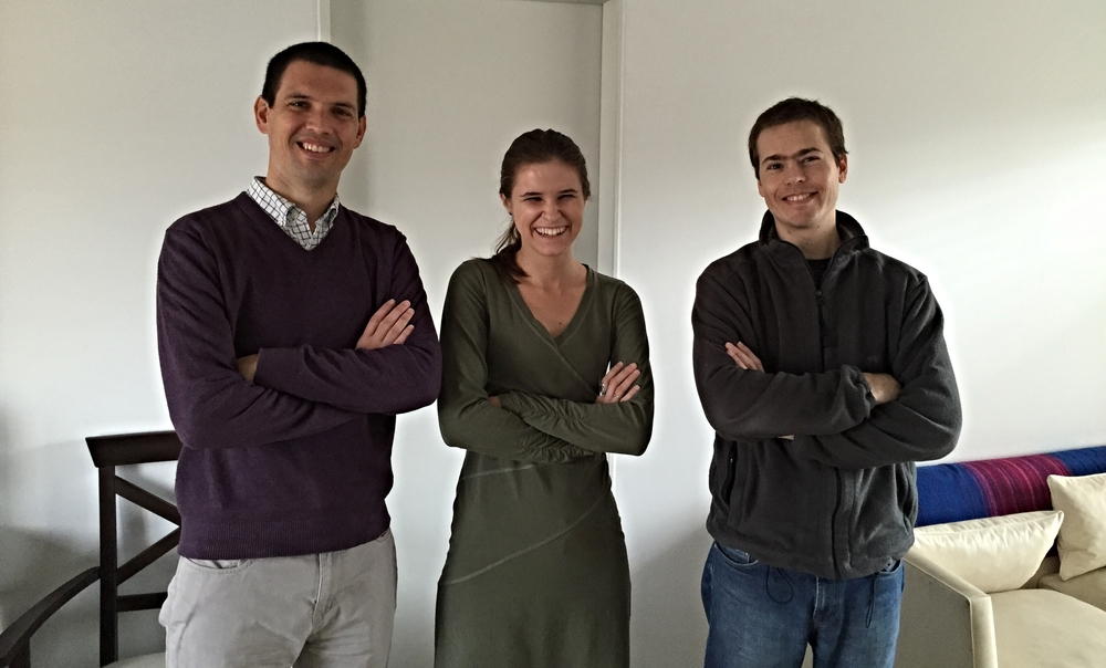 Co-Founders Antonio (Left) and Frederico (Right) with Kaity Ersek.