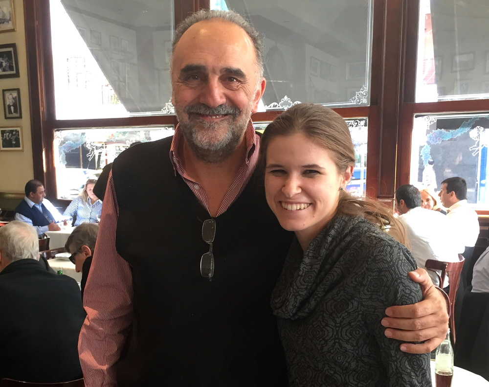 Adrian Saporiti, CEO of Saporiti INC (Left) with Kaity Ersek, Entrepreneurial Trek Writer (Right)