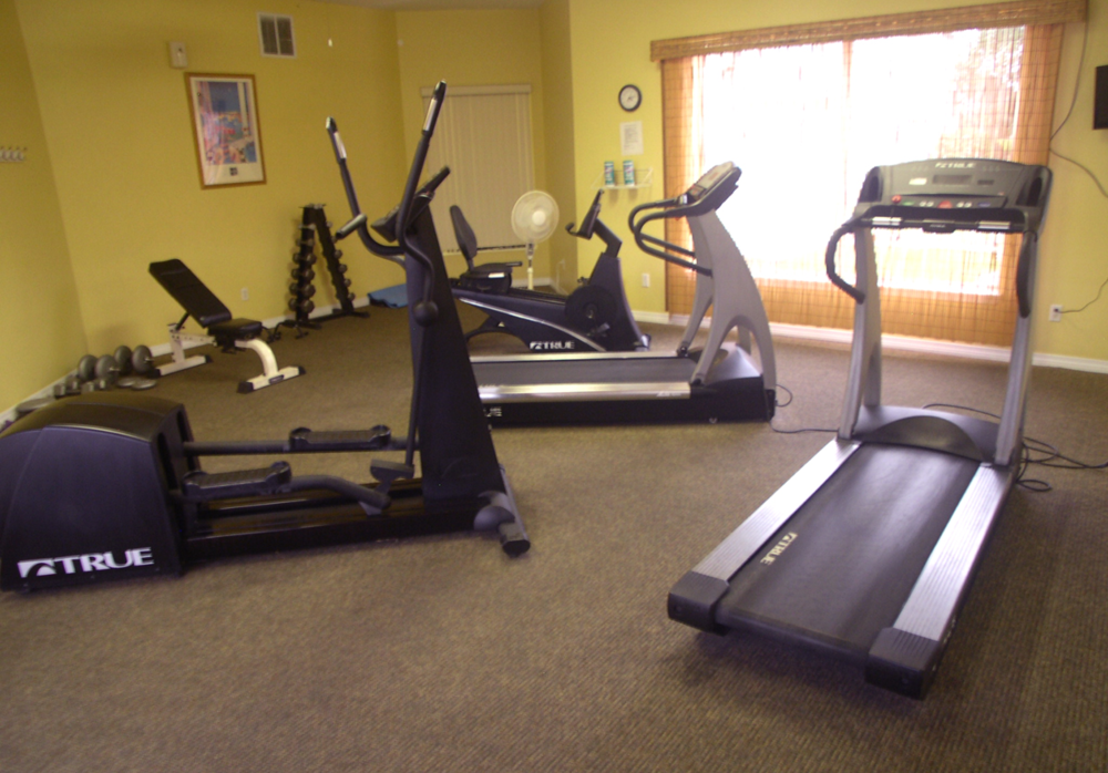 Fitness facility in the clubhouse