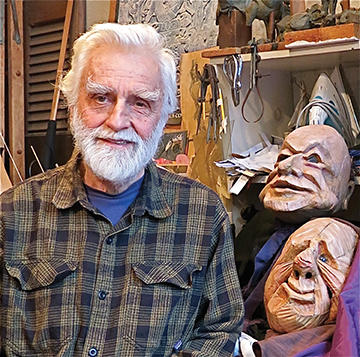 Ralph Lee and his puppets (from The Voice of the West Village)