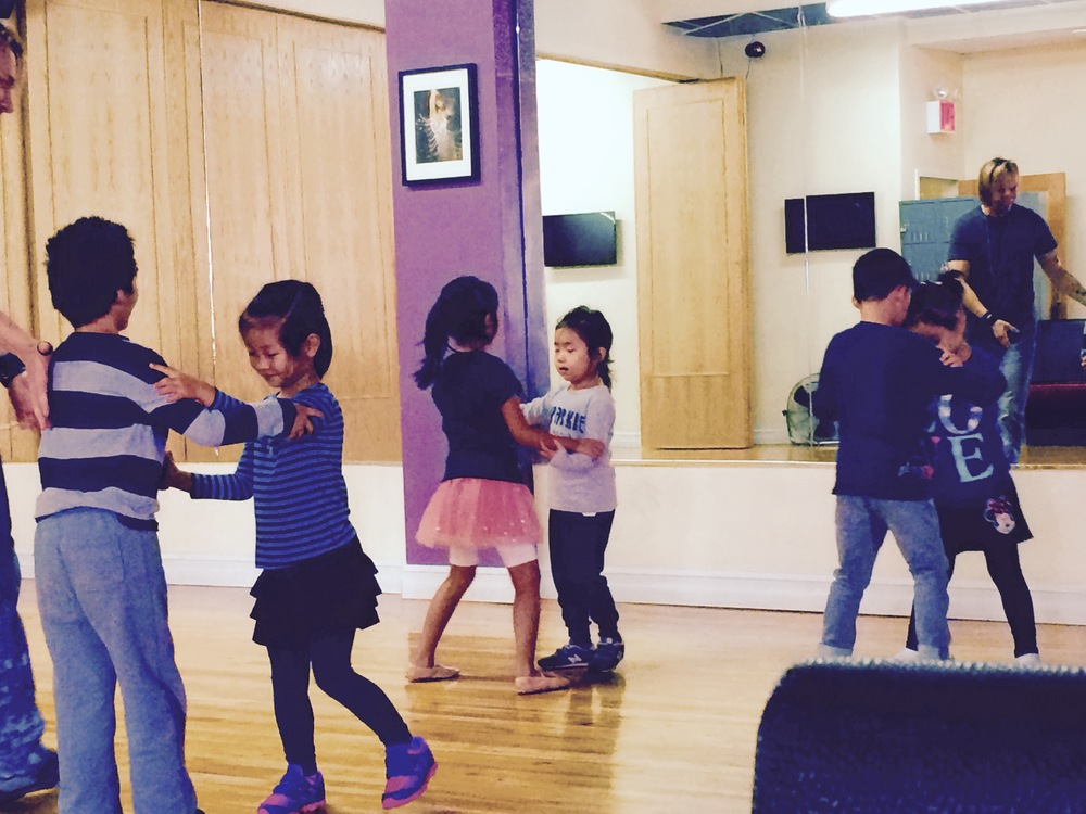 At RU Dance in Flushing, Queens, the little ones start training very early on Saturday morning.