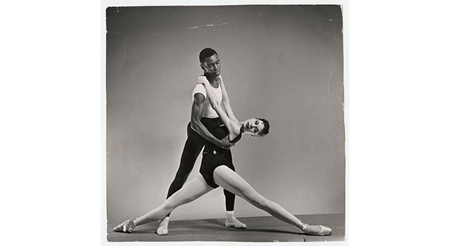 Agon, Pas de Deux, Arthur Mitchell and Diana Adams. From the Columbia University archive.