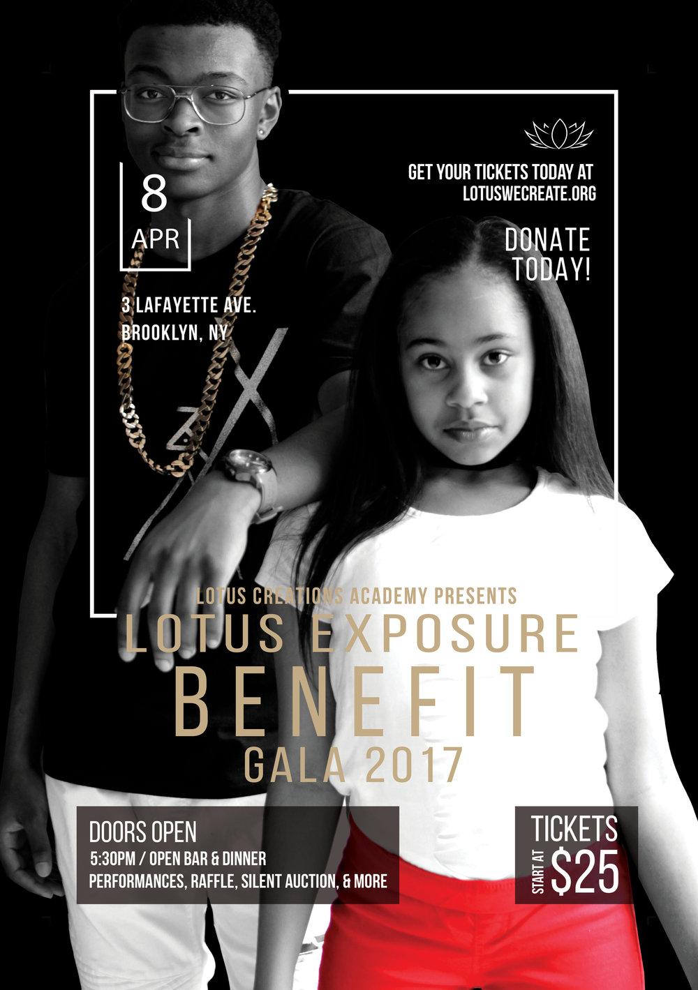 Exposure Benefit Gala Flyer