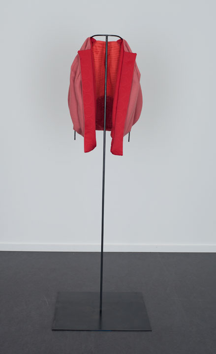 Red Pleated Ball Jacket, The Dowsing 2013