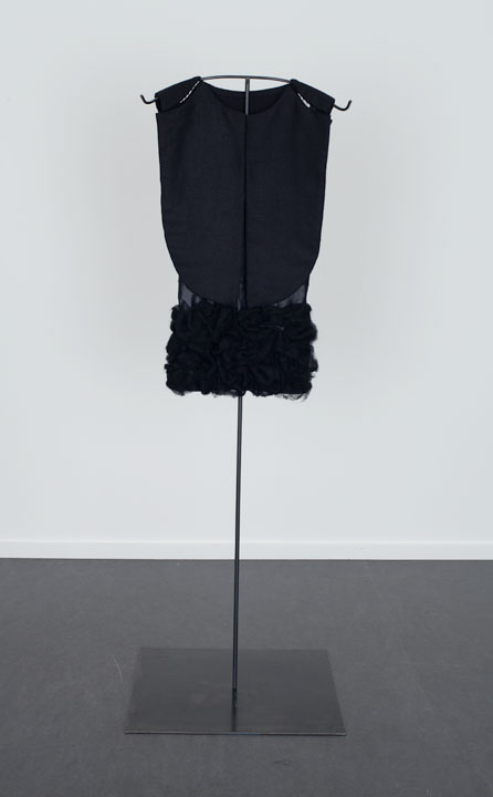 Soft Shield with Black Wool Roving, The Dowsing 2013