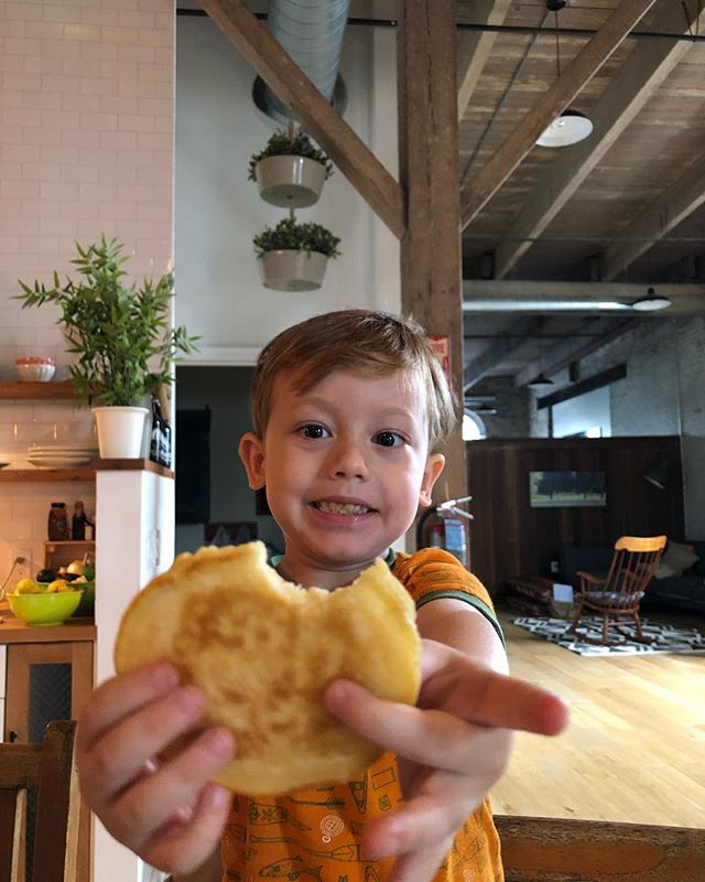 Pancake monster #onwardbo 🥞🥞🥞👩🏻‍🍳 @jjonesberg #saturdays