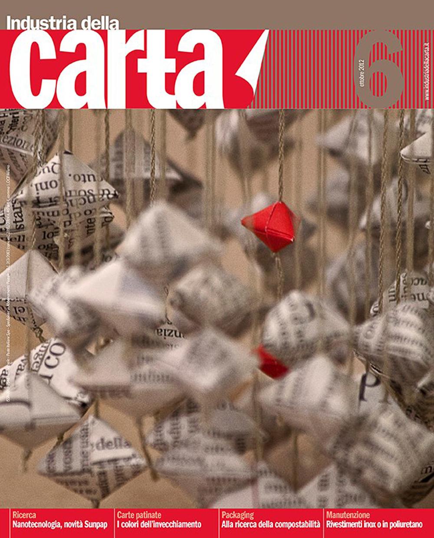 Industria della carta    Magazine cover   2012