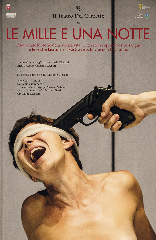 Teatro Del Carretto  Le mille e una notte    Poster   Graphic Design Guido Mencari  2014