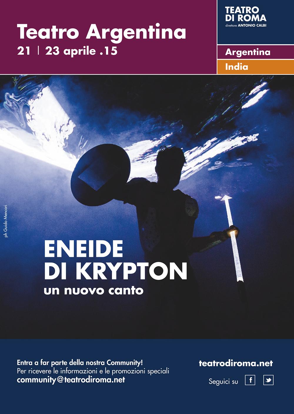 Teatro Studio Krypton  Eneide di Krypton.Un nuovo canto   Teatro Studio Krypton and Beau Geste   Brochure   Teatro di Roma, 2015