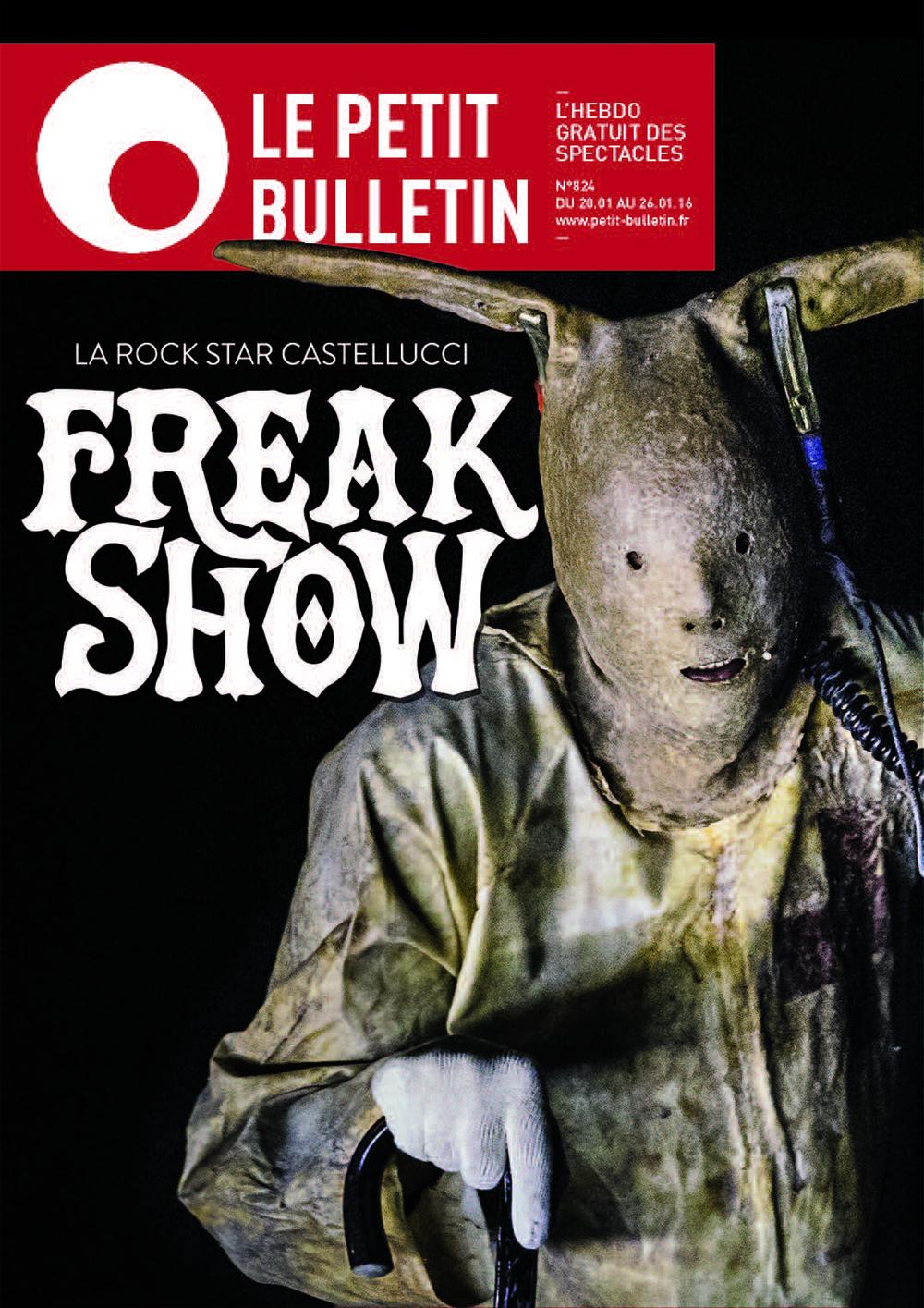 Romeo Castellucci | Oresteia (an organic comedy?)    Magazine Cover   Le Petit Bulletin, 2015