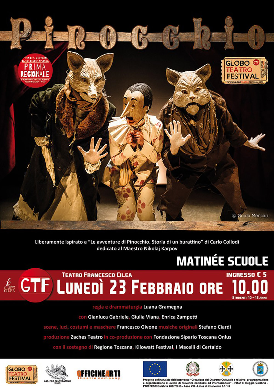 Zaches Teatro   Pinocchio    Poster   Teatro Francesco Cilea, 2015