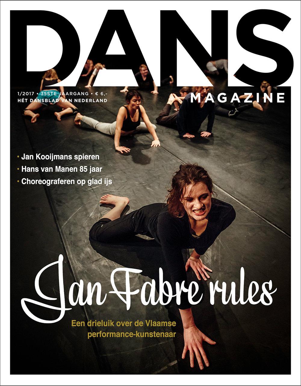 Troubleyn Jan Fabre |Masterclass   Belgium Rules/Belgian Rules   Magazine Cover   Dans Magazine, 2017