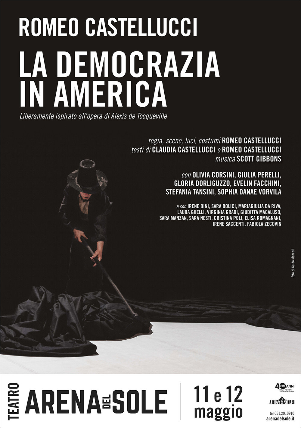 Romeo Castellucci | Democracy in America    Poster   Teatro Arena del Sole, 2017